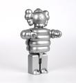 KAWS-MEDICOM-Toy-Kubrick-TM-400-Mad-Hectic-Rare-Silver-2003-2