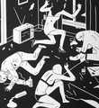 cleon peterson junky blanche oeuvre serigraphie print artiste