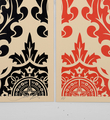 obey-shepard-fairey-parlor pattern cream set serigraphie screenprint soldart.com buy sell art acheter vendre oeuvre art galerie art en ligne online street art gallery-2