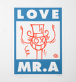 Love Mr. A (bleu et rouge)