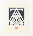 Pyramid top icon letterpress