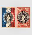 Liberté, égalité, fraternité + Make Art not war (offset)