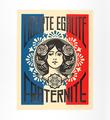 Liberté, égalité, fraternité (letterpress)