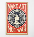 Make Art not war (offset)