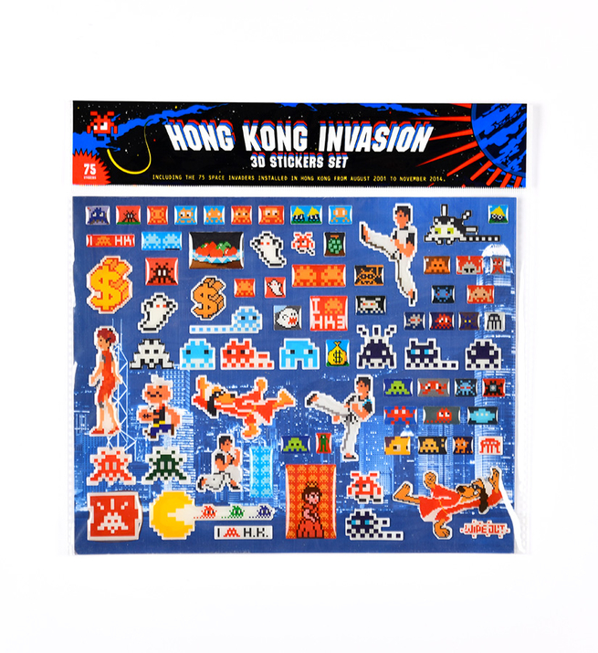 Hong Kong Invasion 3d stickers