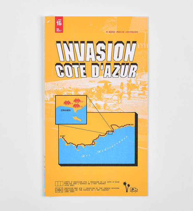 Invasion Map, Cote d'Azur