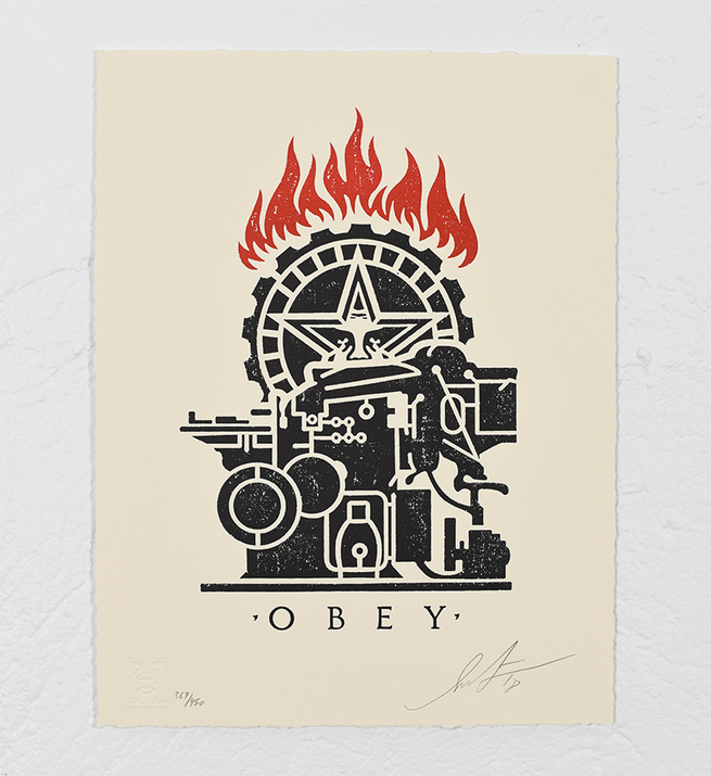 Obey printing press