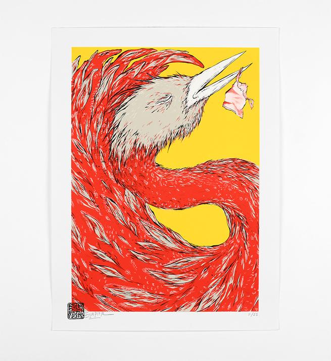 Oiseaux de printemps (version jaune)