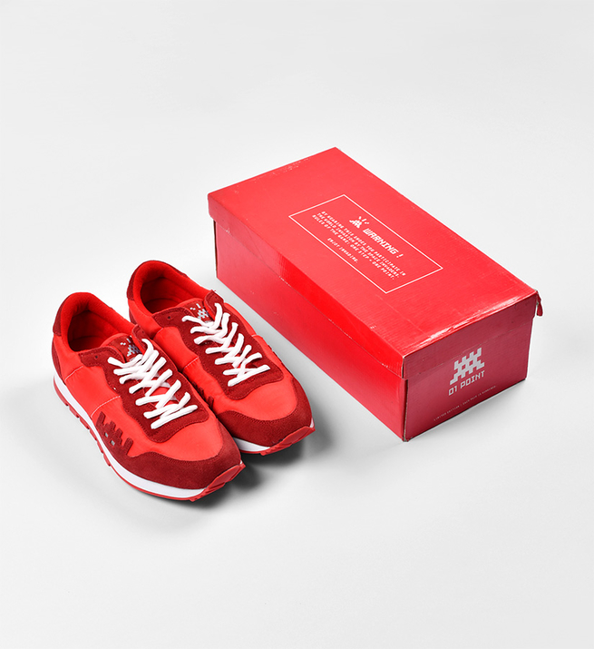 01 Point Sneakers (Version rouge)