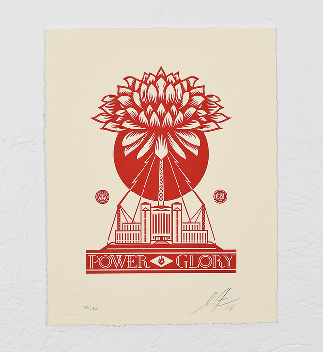 Power and glory letterpress