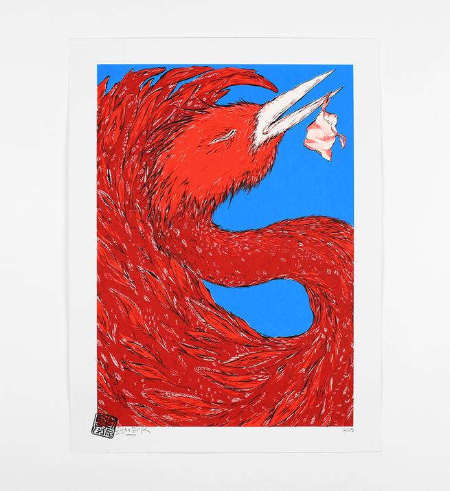 Oiseaux de printemps (blue version)