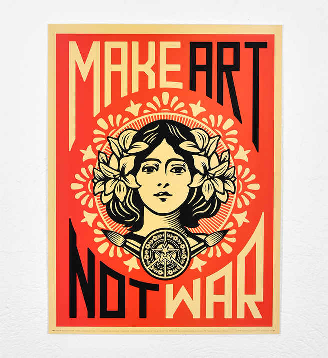 Make art not war (2005)