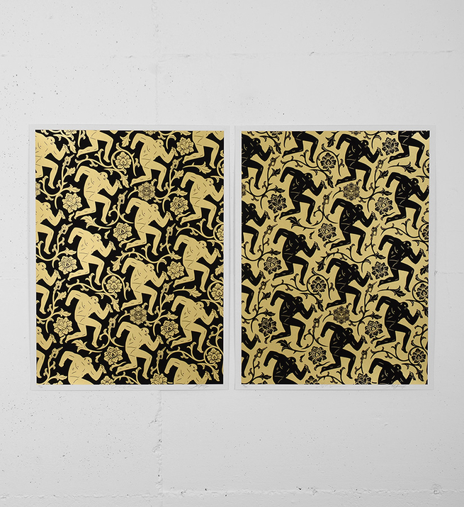 Pattern of corruption (gold black)