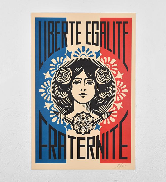 Liberté, égalité, fraternité (offset)