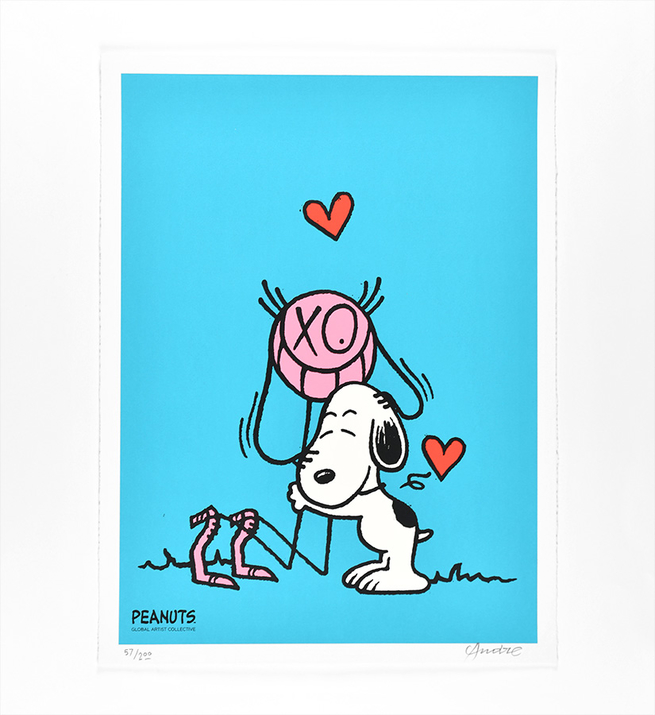 Mr. A Loves Snoopy (version bleu)