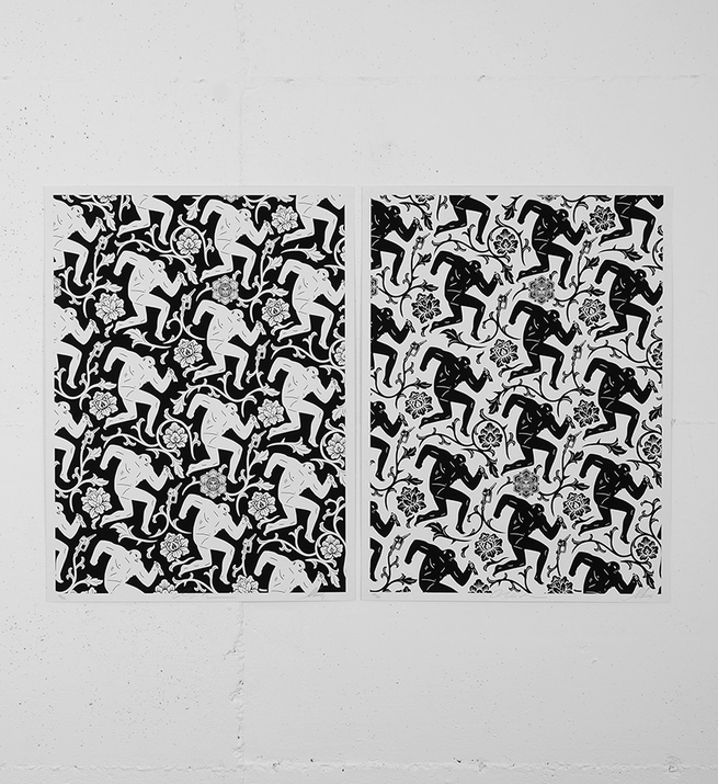 Pattern of corruption (black white)